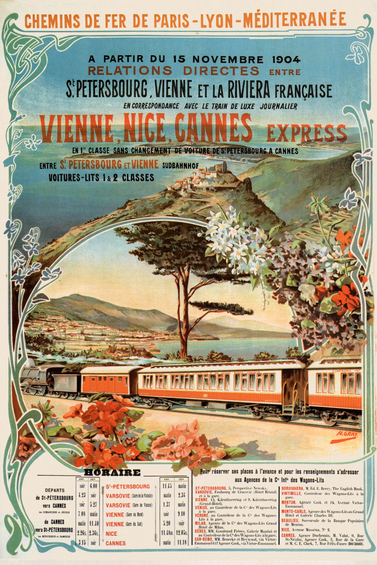 posters and postcards of the m diterran e and riviera express before 1914 retours. Black Bedroom Furniture Sets. Home Design Ideas