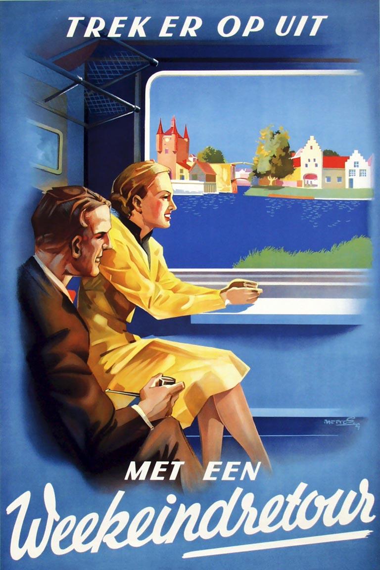 Nederlandse Spoorwegaffiches Uit De Jaren 30 Retours